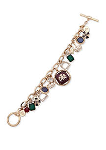 Gold-Tone Multi Flex Charm Bracelet