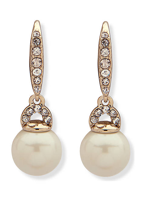 Lauren Ralph Lauren Gold-Tone Pearl Drop Earrings