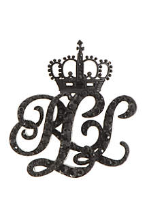Micropave Monogram Crown Pin
