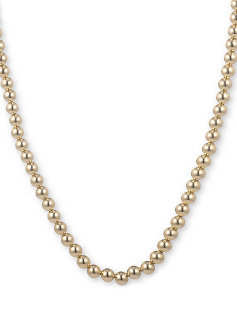 Lauren Ralph Lauren Gold-Tone Metal bead Collar Necklace