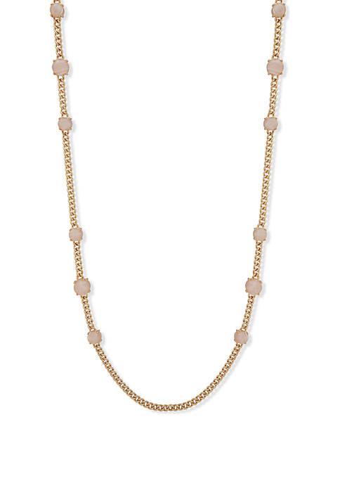 Stone Strandage Quartz Necklace