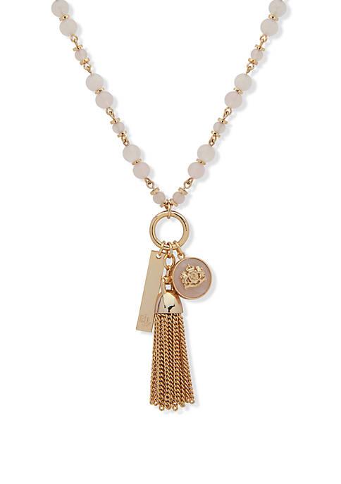 Charm Pendant Rose Quartz Necklace