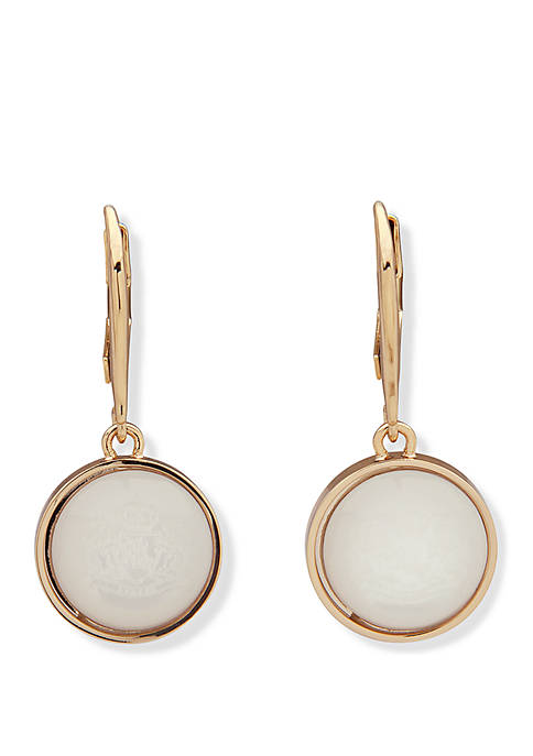 Lauren Gold Tone And Mother Of Pearl Drop