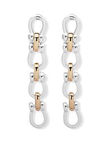 Lauren 2 Tone Link Linear Earrings