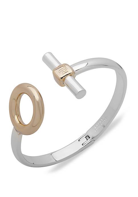 Two Tone Circle Bangle Bracelet