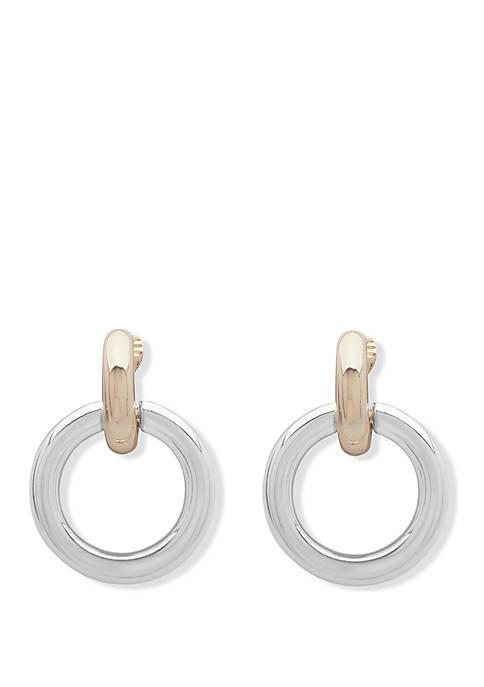 Lauren Two Tone Circle Link EZ Comfort Clip