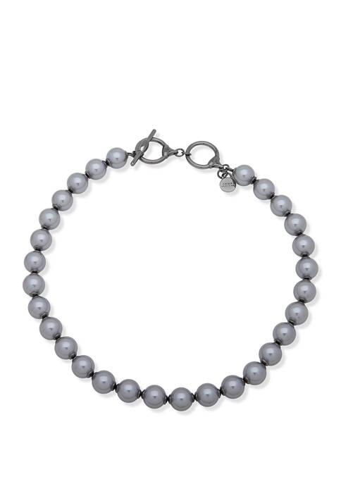 Lauren Ralph Lauren Hematite Tone Jet Collar Necklace