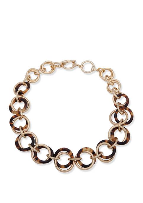 Lauren Ralph Lauren Gold Tone Tortoise Circle Link