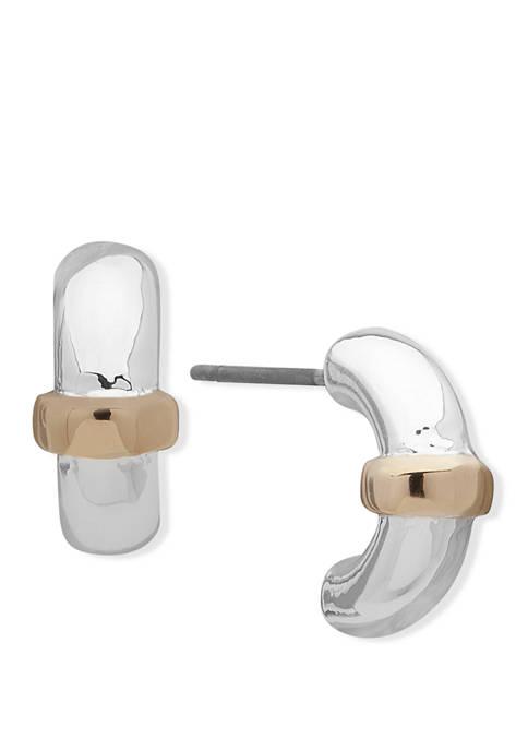 Lauren Ralph Lauren 2 Tone Stud Earrings