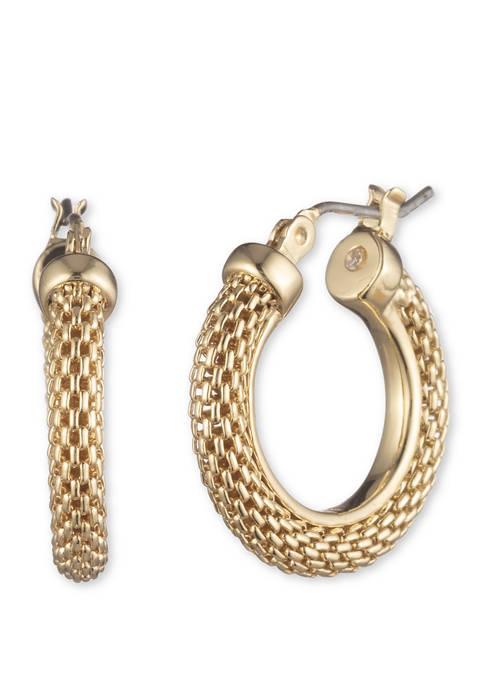 Medium Mesh Hoop Earrings