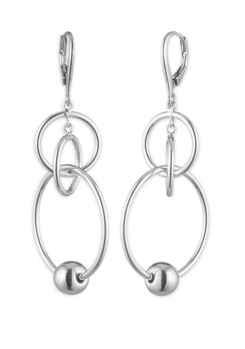 Gold Tone Ring Orbital Earrings
