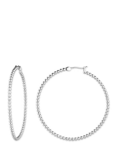 Lauren Large Metal Ball Hoop Earrings