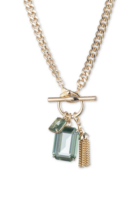 Stone Toggle Pendant Necklace
