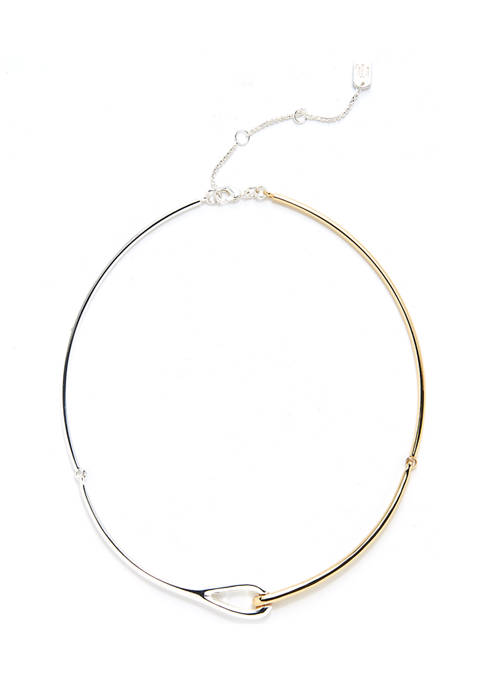 Two-Tone Collar Necklace