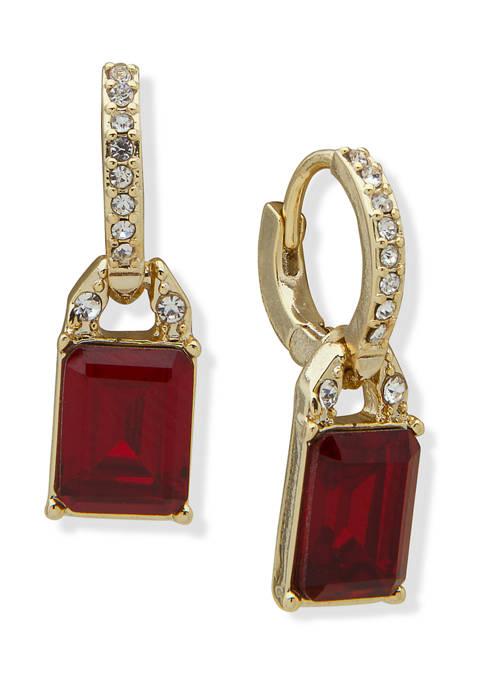 Lauren Ralph Lauren Gold Tone Red Crystal Stone