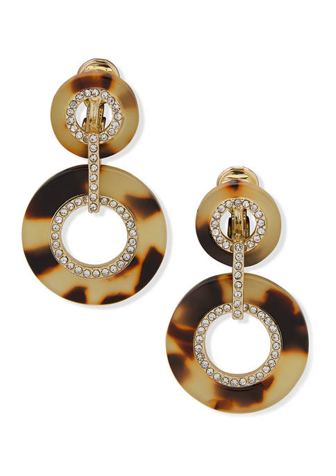 Lauren Ralph Lauren Gold Tone Circle Link Drop