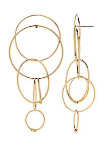 Kaari Blue™ Gold Tone Circle Drop Earrings