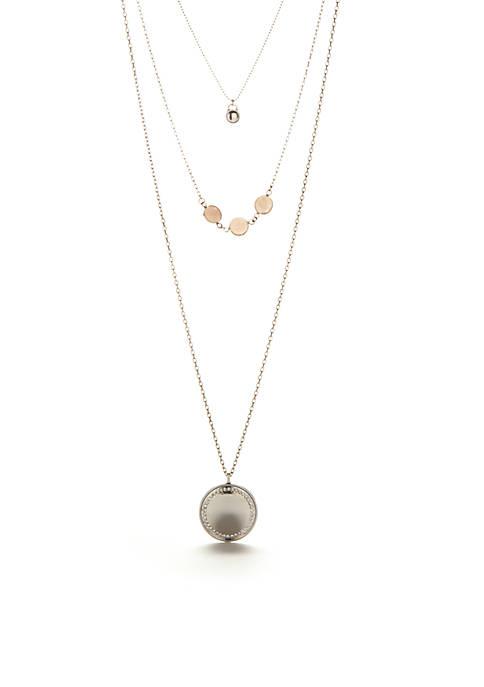 Kaari Blue™ Silver-Tone Triple Disc Necklace
