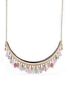 Gold-Tone Sweet Nature Beaded Collar Necklace