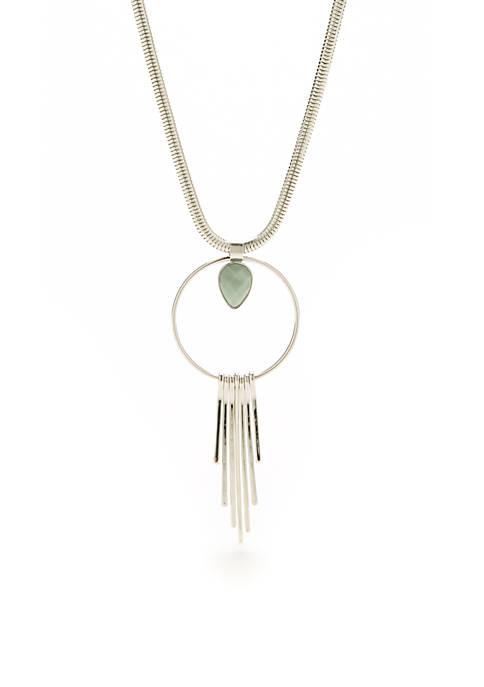 Kaari Blue™ Silver-Tone Cluster Pendant Necklace