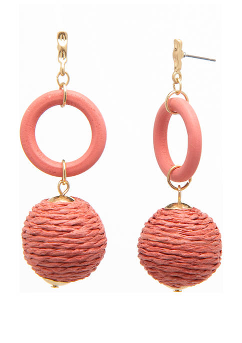 black diamond accessories Natural Ball Drop Earrings