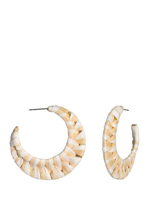 Natural Multi Hoop Earrings