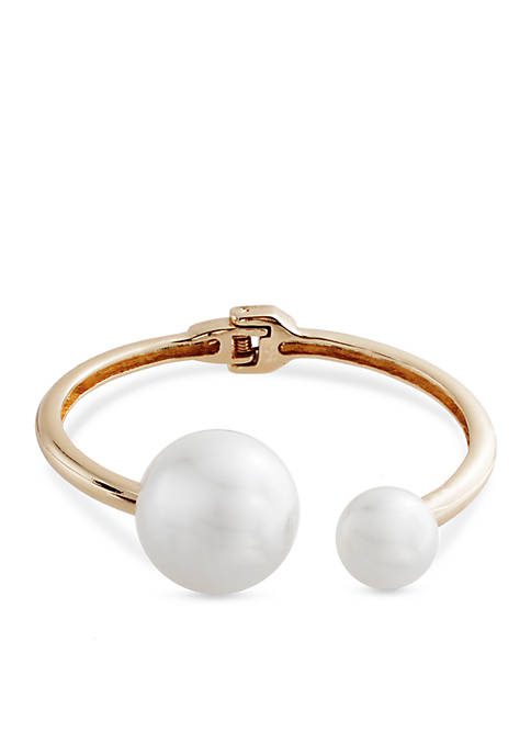 CATHERINE STEIN DESIGNS Gold-Tone Spring Romance Pearl Cuff