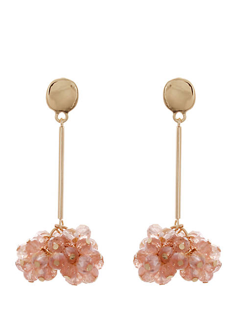 CATHERINE STEIN DESIGNS Gold Tone Cluster Drop Earrings
