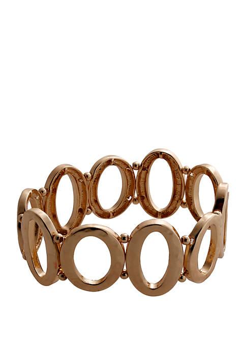 CATHERINE STEIN DESIGNS Gold Tone Stretch Link Bracelet