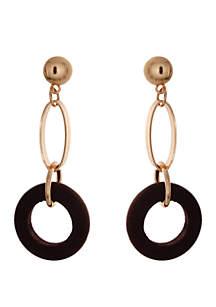 CATHERINE STEIN DESIGNS Wood Link Drop Earrings
