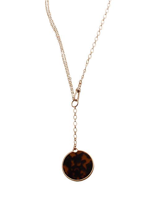 CATHERINE STEIN DESIGNS Tortoise Disc Pendant Necklace