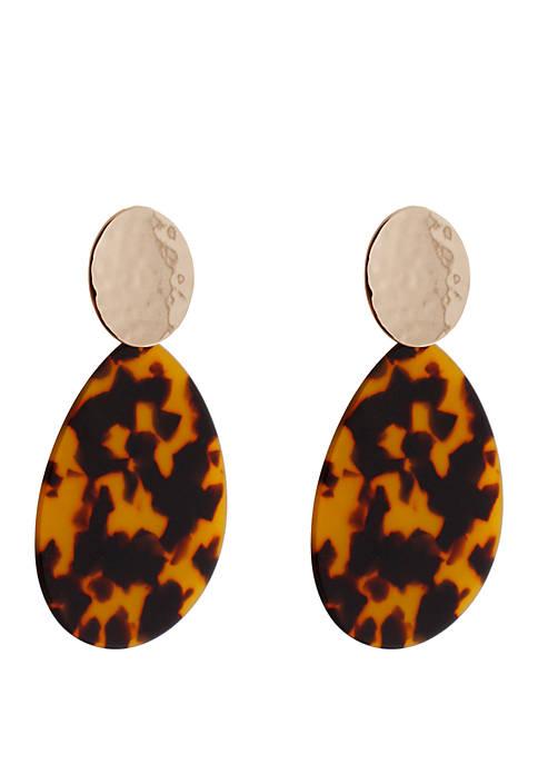 CATHERINE STEIN DESIGNS Gold Tone Teardrop Earrings