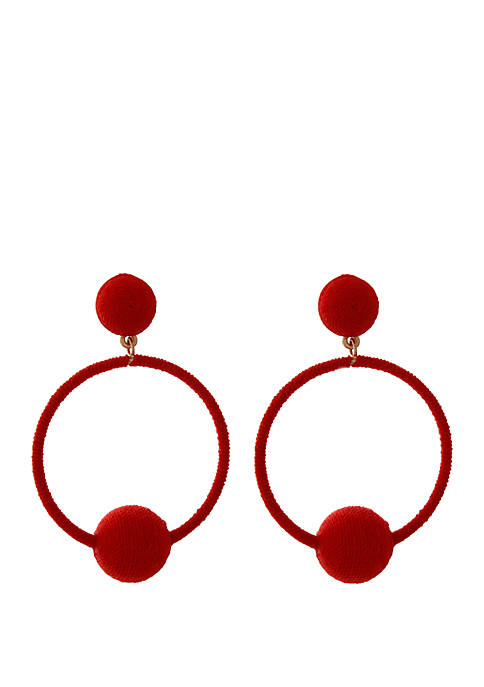Wrapped Circle Drop Earrings