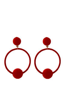 Crown & Ivy™ Wrapped Circle Drop Earrings