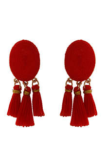Crown & Ivy™ Tassel Drop Earrings