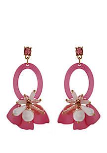 Crown & Ivy™ Cluster Drop Earrings