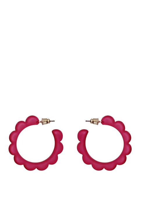 Scalloped Acrylic Hoop Earrings