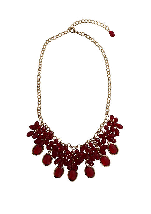 18 Inch Beaded Statement Necklace
