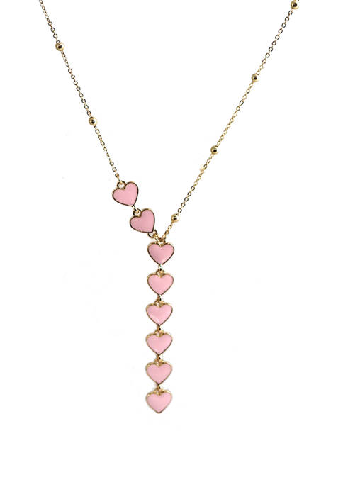 Y Shape Heart Necklace