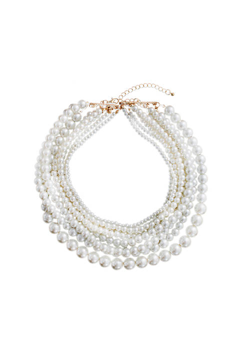Pearl Rows Necklace
