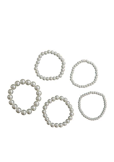 Crown & Ivy™ Pearl Stretch Bracelets