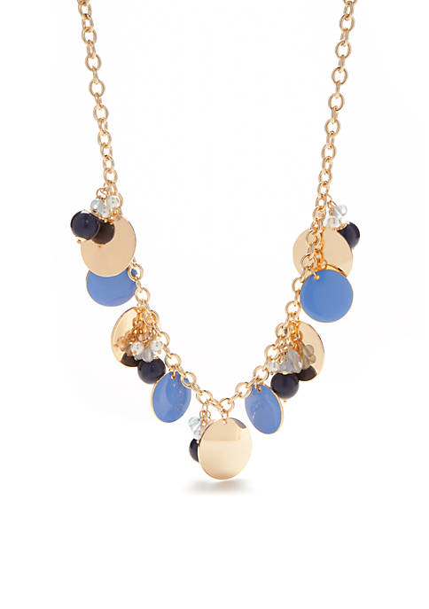 Crown & Ivy™ Gold-Tone Preppy Picnic Statement Necklace