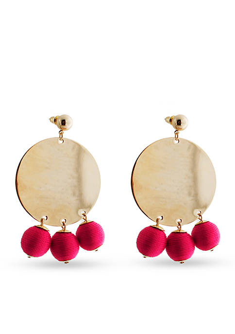 Crown & Ivy™ Gold-Tone Disc Ball Earrings