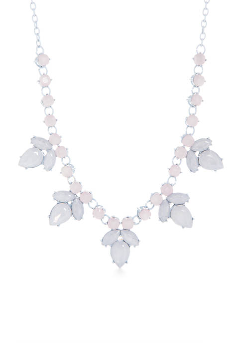 Crown & Ivy™ Silver-Tone Acrylic Pearl Necklace