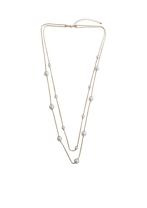 Belk 32 Pearl Station Necklace