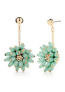 Gold-Tone Montauk Weekend Flower Drop Opal Earrings