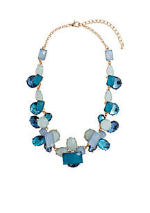 Blue Gold-Tone Arcy Necklace