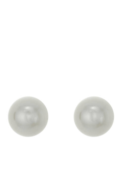Crown & Ivy™ 10mm Pearl Stud Pierced Earring