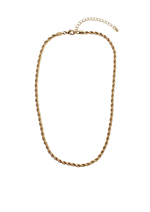 Crown & Ivy™ Gold Chain Necklace