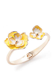 Gold-Tone Floral Cuff